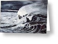 Waves At Night Greeting Card