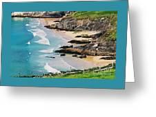 Waves Coming Ashore At Sybil Point Ireland  # 1 Greeting Card