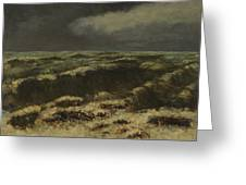 waves by Gustave Courbet Greeting Card