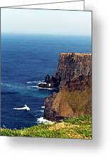 Waves Crashing At Cliffs Of Moher Ireland Greeting Card