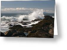 Waves Crashing Greeting Card