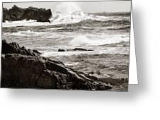Waves Crashing Greeting Card