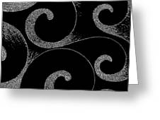 Waves Inverted In Black And White Greeting Card