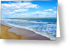 Waves Lapping On Beach 3 Greeting Card