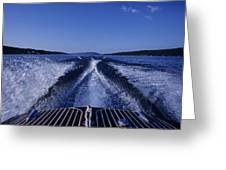 Waves Left In The Wake Of A Boat Greeting Card