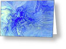 Waves Of Blue Greeting Card
