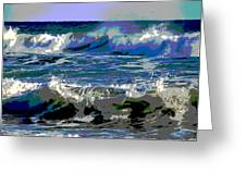 Waves Of Delight Greeting Card