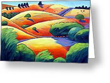 Waves Of Hills Greeting Card