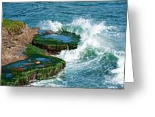 Waves Of La Jolla Greeting Card