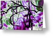 Waves Of Purple Greeting Card