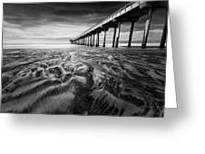 Waves Of Sand Greeting Card by Ryan Weddle