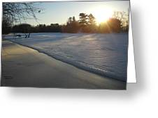 Waves Of Snow On An Ice Beach Greeting Card