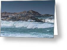Waves On A Cloudy Day Greeting Card