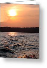 Waves On Greers Ferry Lake Greeting Card