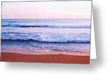 Waves On The Beach 2 Aedb Greeting Card
