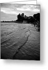 Waves On The Ganges Greeting Card