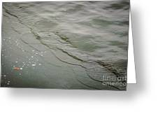 Waves On The Ice Greeting Card