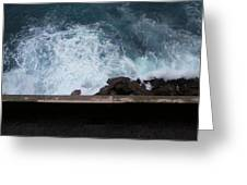 Waves On The Mediterranean Greeting Card
