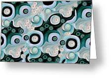 Waves Seashells Foam And Stones In Turquoise Greeting Card by Jacqueline Migell
