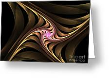 Waves With Pink Greeting Card