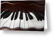 Wavey Piano Keys Greeting Card