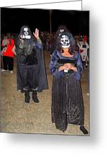 Waving Ghoul Cinematographer Halloween Casa Grande Arizona 2004 Greeting Card