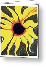 Waving Sunflower Greeting Card