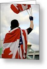 Waving The Flag Greeting Card