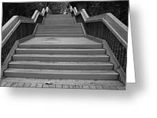Wavy Stairs Greeting Card