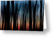 Wavy Sunset Greeting Card