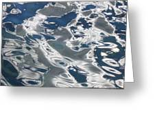 wavy Water  Greeting Card