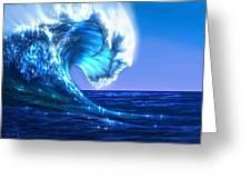 Wawawave Greeting Card