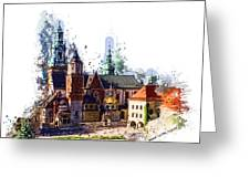 Wawel Castle Cracow Greeting Card