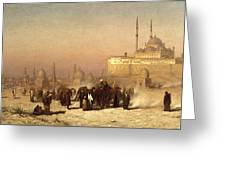 Way Between Old And New Cairo Greeting Card