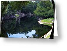 Way Down Upon The Suwannee River Fisheye Greeting Card