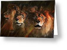 Way Of The Lion Greeting Card