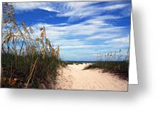 Way Out To The Beach Greeting Card