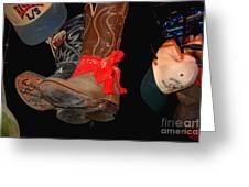 Waylon Jennings Boots Greeting Card