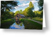 Wayside Inn Grist Mill Reflection Greeting Card
