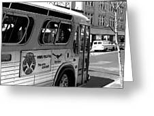 Wbru-fm Bus Sign, 1975 Greeting Card