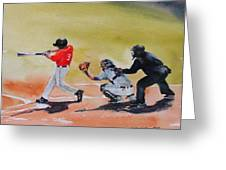 Wcu At The Plate Greeting Card