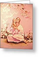 We All Come As Angels Unaware Greeting Card