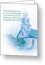 We Are The Church Greeting Card