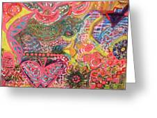 We Are The Colors Of The World  Aka Medley Of Colors Greeting Card by Anne-Elizabeth Whiteway