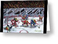 We Olive Hockey Greeting Card