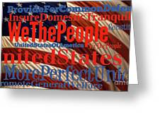 We The People Of The United States Of America Greeting Card