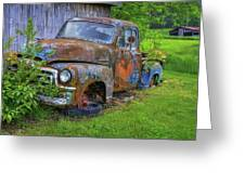 Wears Valley 1954 Gmc Wears Valley Tennessee Art Greeting Card