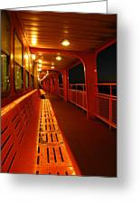 Weather Deck Starboard Side Night Greeting Card