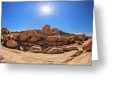 Weather Worn Rock Bowl Greeting Card