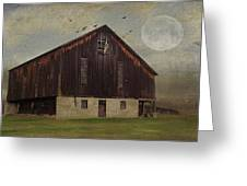 Weathered Barn And Birds Greeting Card